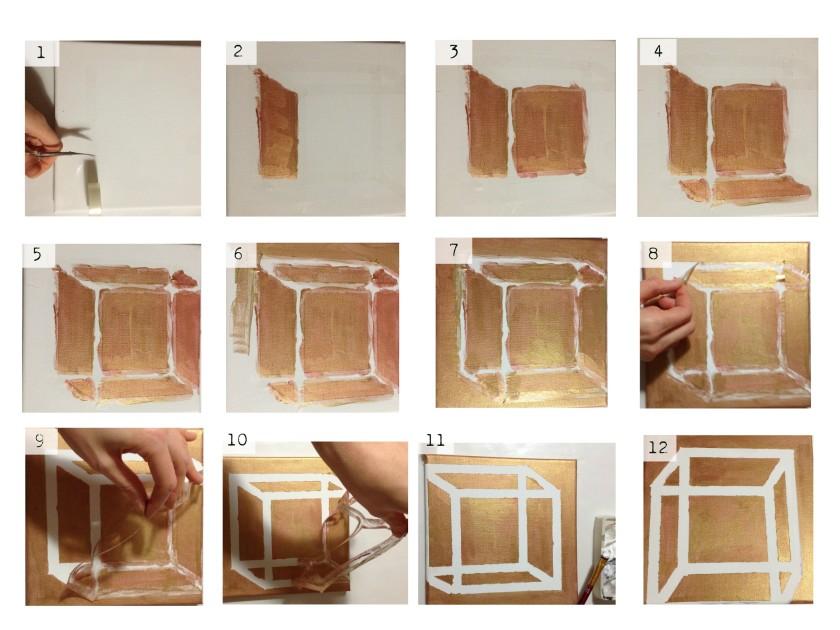 #diy #painting #acrylic painting #cube #geometric object
