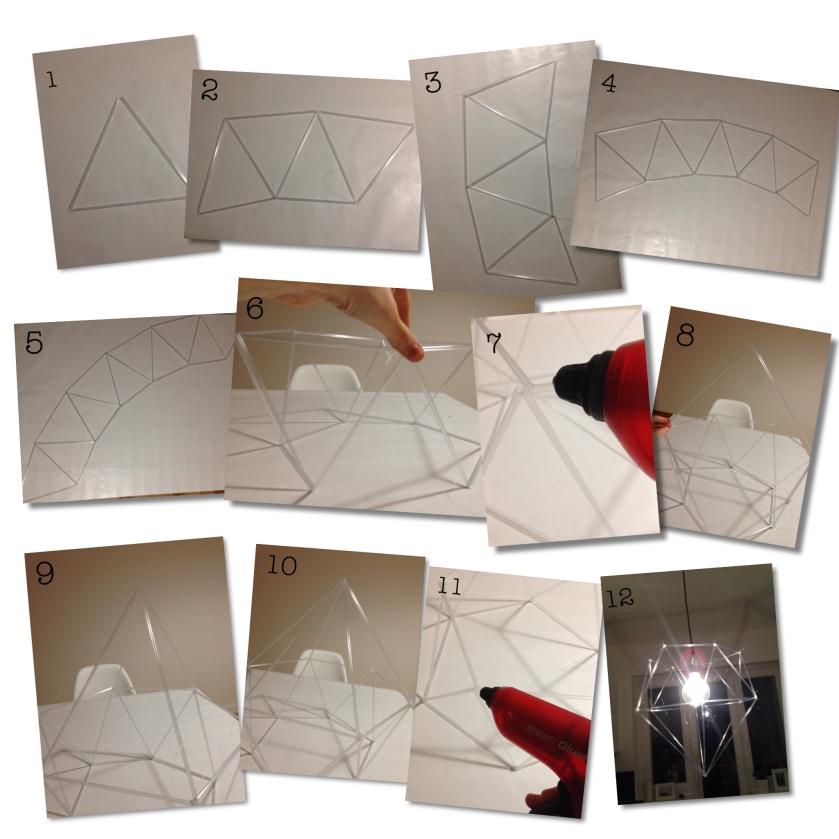 #DIY #DIAMOND #Designer Lampshade #tube #geometric #lamp