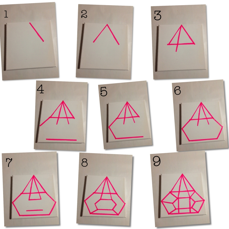 DIY step by step PAINTING WITH PAPER TAPE - PINK DIAMOND