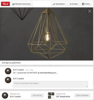Inspiration_Diamond Lampshade