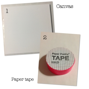 DIY MATERIALS PAITING WITH PAPER TAPE - PINK DIAMOND