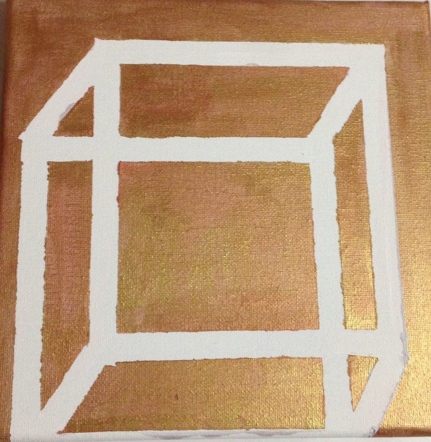 #diy #painting #acrylic painting #cube #geometric object