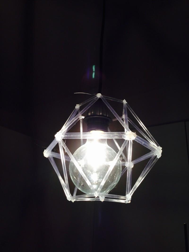 #DIY #DIAMOND #Designer Lampshade #geometric #geometric object #tibes