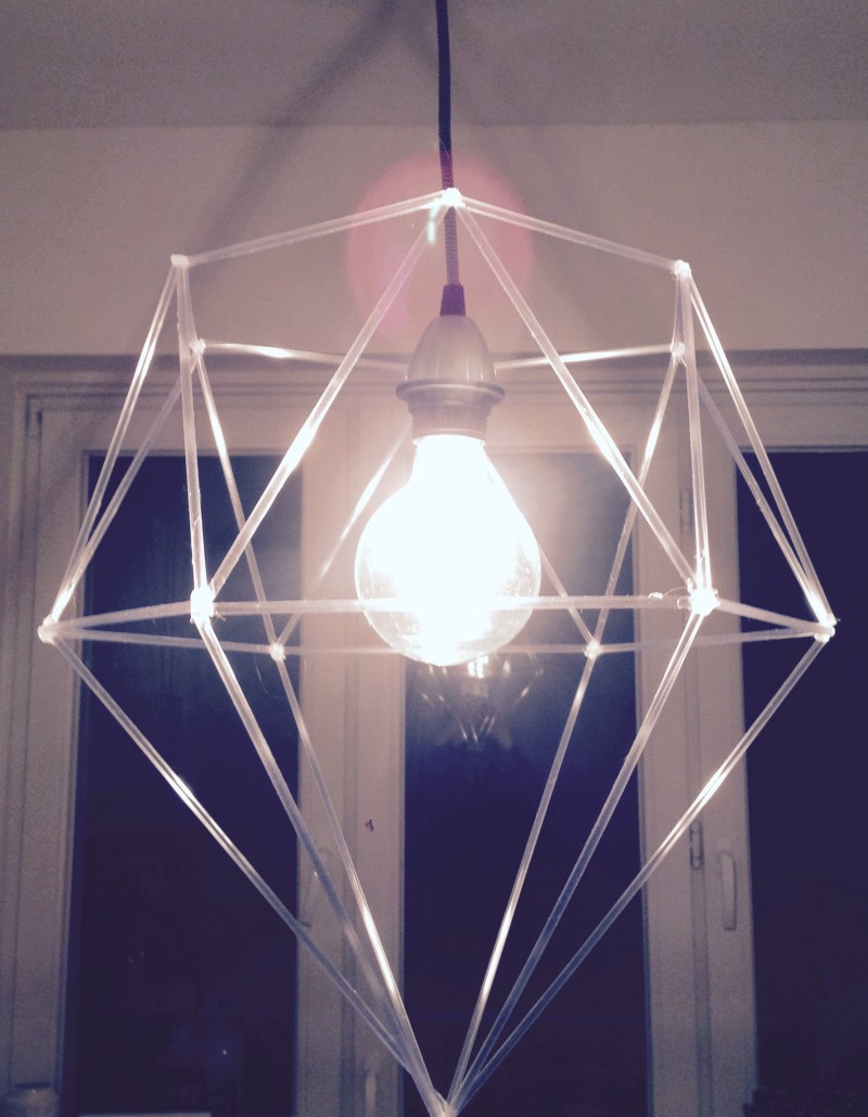 #DIY #DIAMOND #designer #lampshade #geometric #tubes #nylon