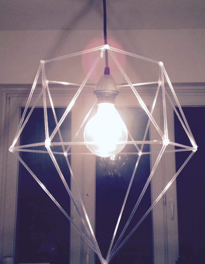 #DIY #DIAMOND #designer #lampshade #geometric #tubes #nylon