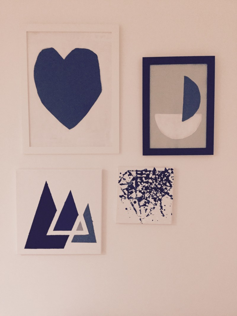 result DY Painting of Triangles with paper tape_2
