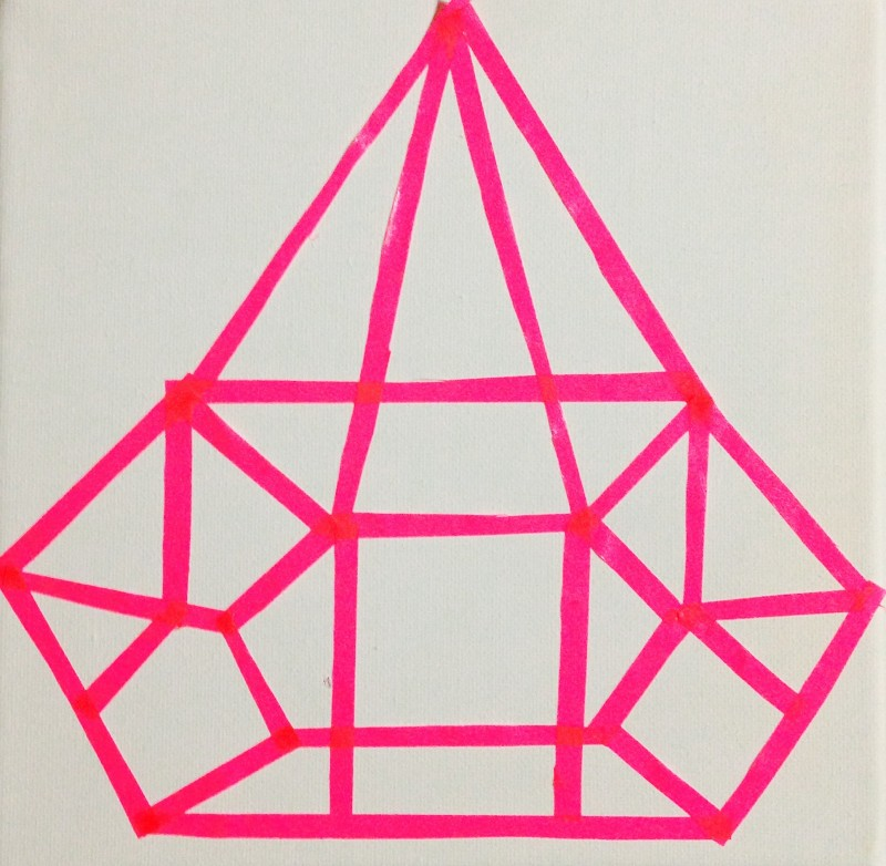 DIY PAINTING WITH PAPER TAPE - PINK DIAMOND