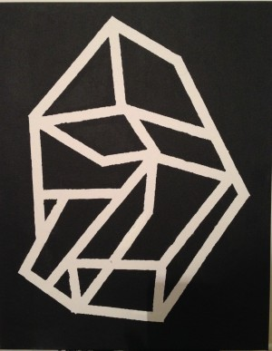 #DIY #PAINTING #GEOMETRIC #diamond #cube #acrylic
