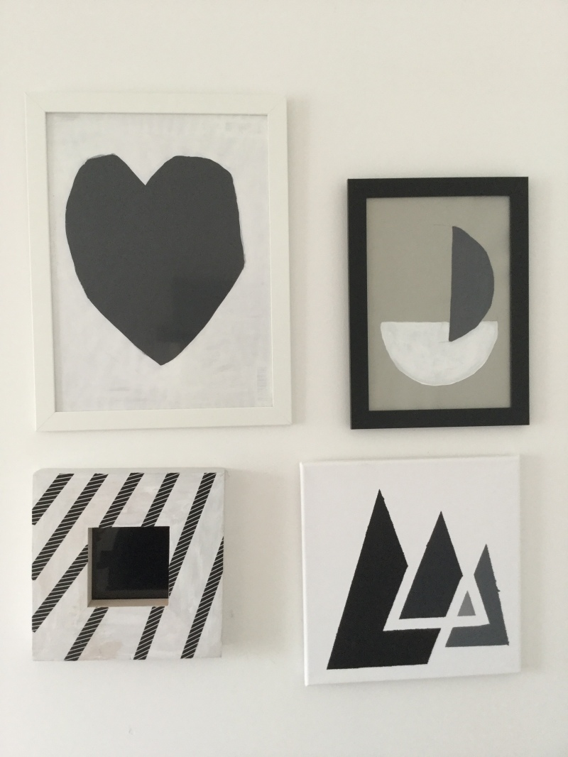 DIY Picture Frame with Washi Masking Tape Black & White