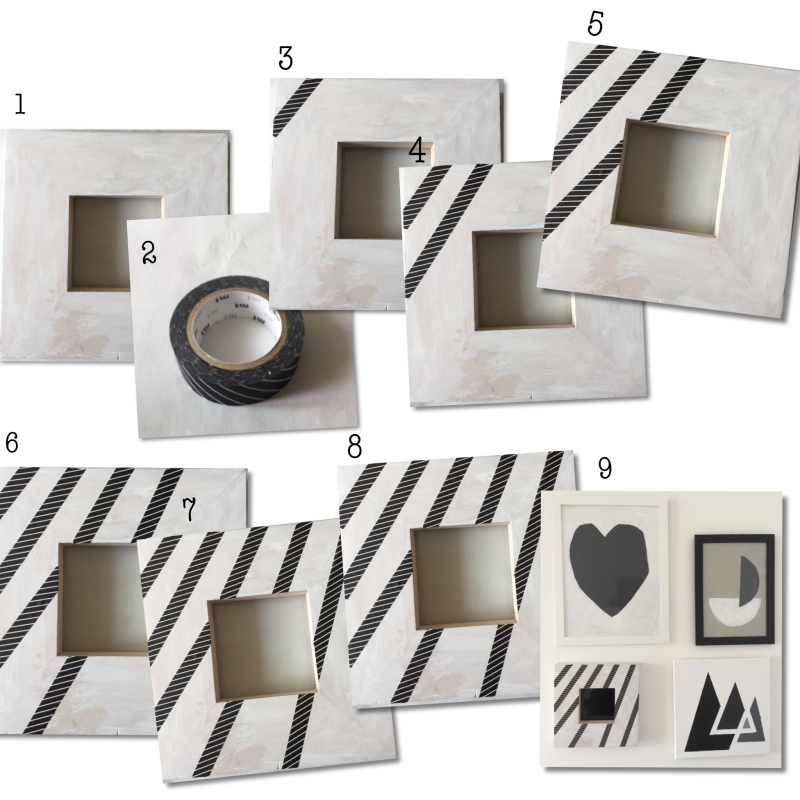 DIY step by step - Washi Masing tape Picture Frame