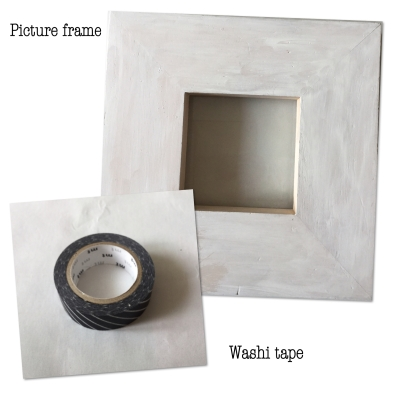 Required Supplies - Washi Masking Tape & a plain picture frame
