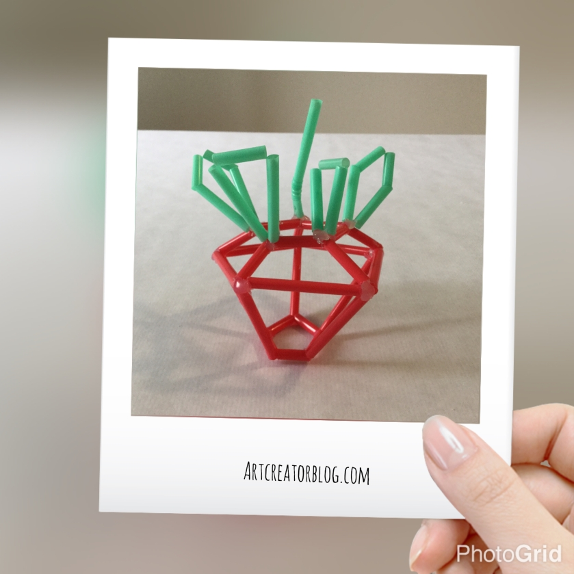 DIY Strawberry sculpture @ artCREATORblog.com #bringsummertoyourhome
