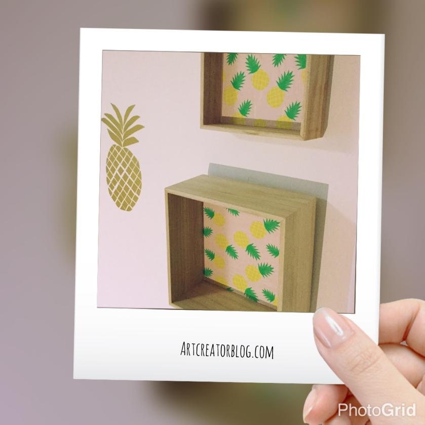 DIY Pineapple Showcase @ artCREATORblog.com #bringsummertoyourhome